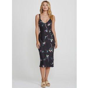 Auguste Dawn Spencer Floral Slip Midi Dress 10 NWT